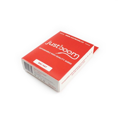 JustBoom DAC HAT - Red Packaging
