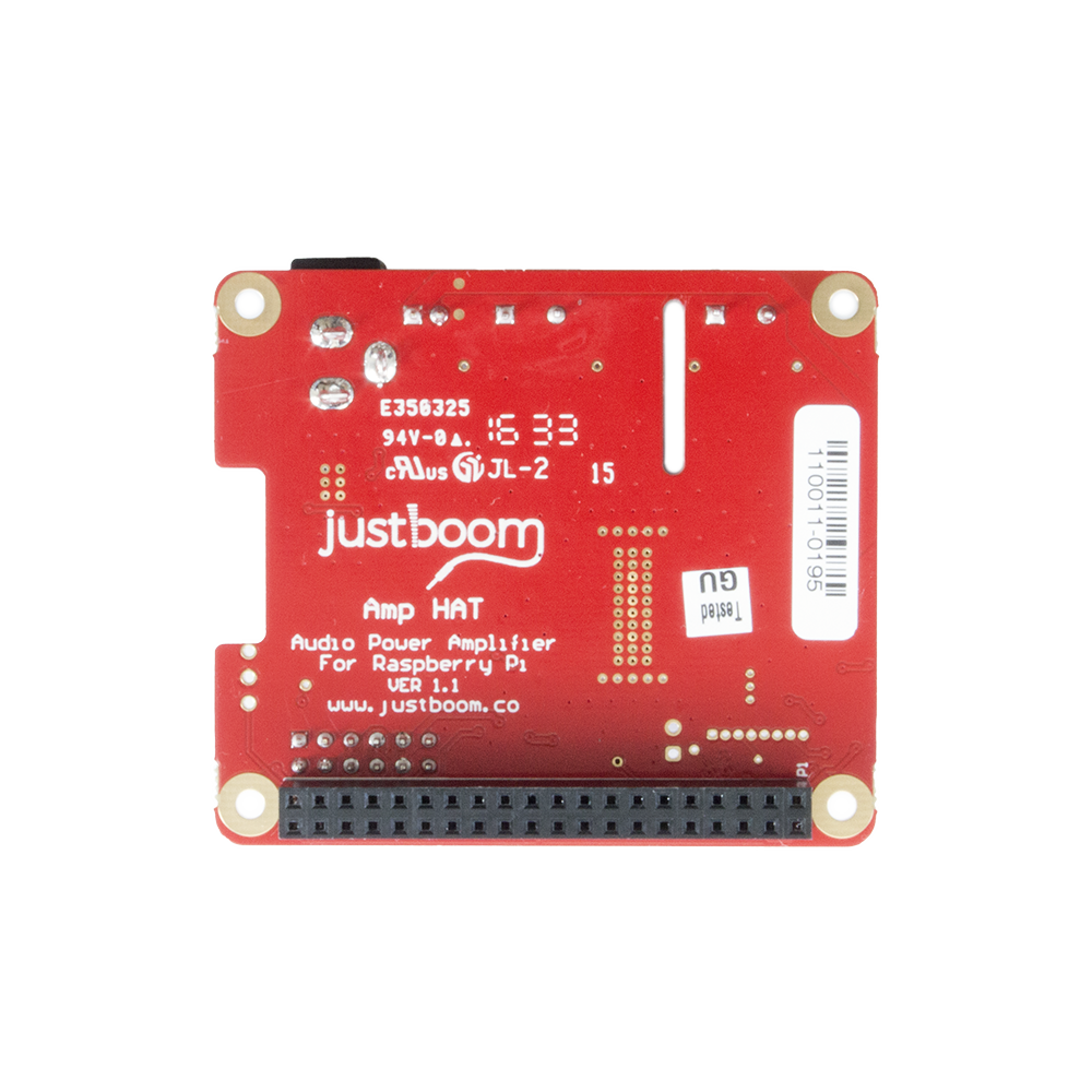 Justboom Amp Hat For The Raspberry Pi Audio Preamplifier Line Driver