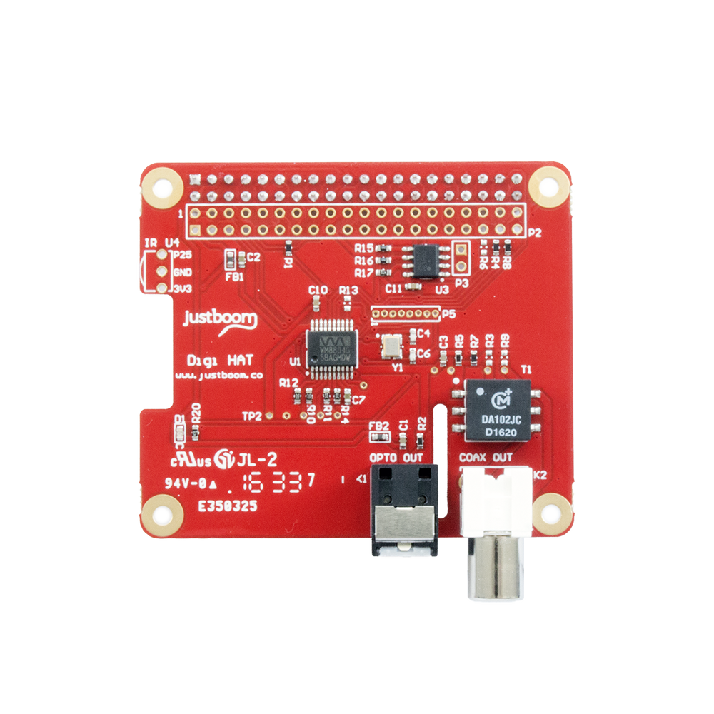 JustBoom Raspberry Pi digital audio output HAT