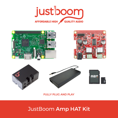 JustBoom Amp HAT Kit for the Raspberry Pi