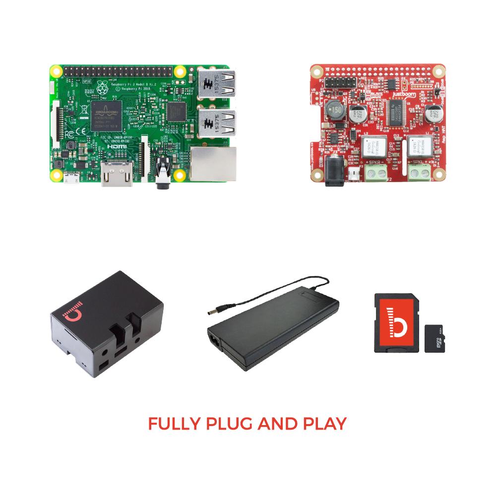 JustBoom Amp HAT Kit for Raspberry Pi